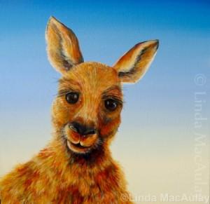painting of a kangaroo