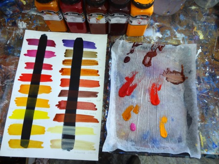 Paint on the palette