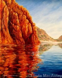 Painting of Glen Helen by Linda MacAulay Artist.