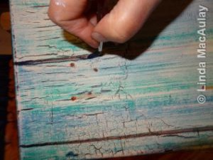 Painting the nail holes