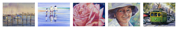 Watercolor paintings by Linda Macaulay