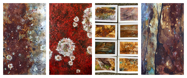 Mixed media paintings by Linda MacAulay of Cataract Gorge