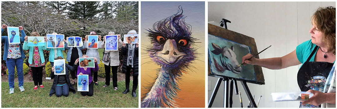 artists painting animals on Norfolk Island