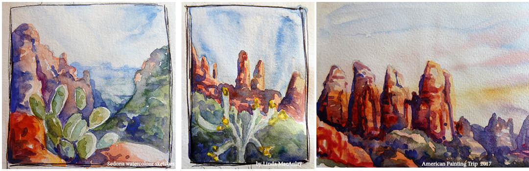 cactus paintings in watercolour