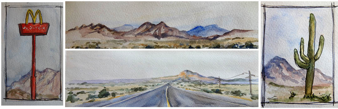 American watercolours by Linda MacAulay.