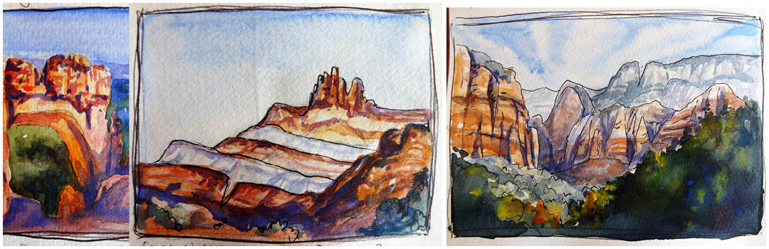 watercolour journal of Utah